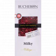 Шоколад молочный «Bucheron» с кусочками малины, 100 г