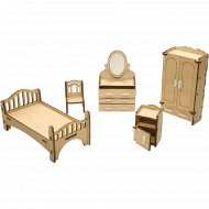 Мебель для кукол «Спальня» ДК-1-001-02.