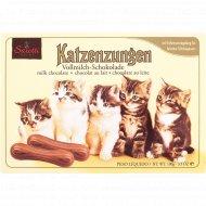 Шоколад фигурный «Katzenzungen» молочный, 100 г.