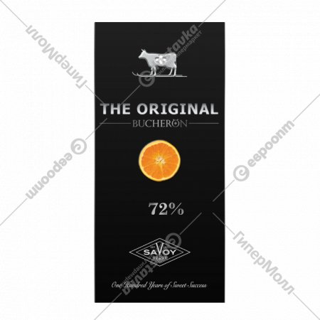 Шоколад горький «Swiss original» с кусочками апельсина, 72%, 100 г.