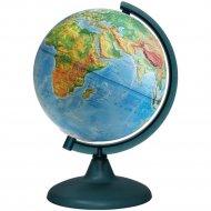 Глобус физический рельефный, 21 см, на круглой подставке.
