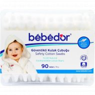 Ватные палочки «Bebe D'or» детские с ограничителем, 0+, 90 шт.