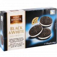 Печенье «Black&White» с какао и кремовой начинкой, 176 г.