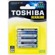 Элемент питания «Toshiba» LR03GCA BP-4C, 4 шт.