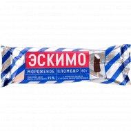 Мороженое пломбир «Эскимо» с ароматом ванили, 60 г.