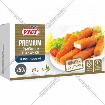 Палочки рыбные «Vici» в панировке, замороженные, 250 г.