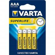 Элемент питания «Varta» Superlife R03, 4 шт.