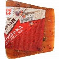 Продукт из свинины «Грудинка дымовица люкс» копчено-вареный, 1 кг., фасовка 0.3-0.4 кг