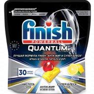 Капсулы для посудомоечных машин «Finish» Quantum Ultimate, лимон, 30 шт