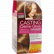 Крем-краска для волос без аммиака «L'Oreal» пряная карамель 7304.