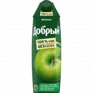 Сок «Добрый» яблочный, 1 л.