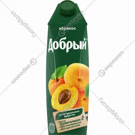 Нектар «Добрый» абрикосовый с мякотью 1 л.