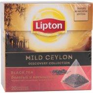 Чай чёрный «Lipton» мягкий, 20 пакетиков.