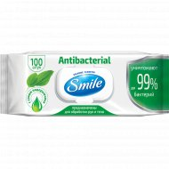 Салфетки влажные «Smile» антибактериальные, 100 шт.