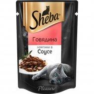 Корм для кошек «Sheba» ломтики в соусе, говядина, 85 г