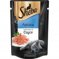 Корм для кошек «Sheba» ломтики в соусе, лосось, 85 г