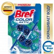 Чистящее средство для унитаза «Bref» color aktiv, эвкалипт, 2x50 г.
