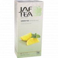 Чай зелёный «Jaf Tea» с ароматом лимона и мяты, 25x2 г.