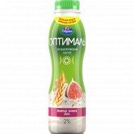 Йогурт питьевой «Оптималь» инжир, злаки и лен 2 %, 415 г