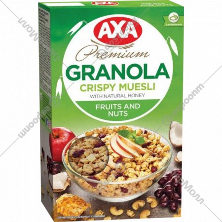 Мюсли «Axa»с фруктами и орехами, 250 г.