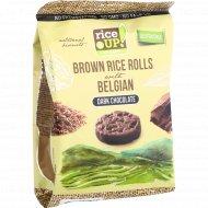 Цельнозерновые роллы «Rice UP!» с темным бельгийским шоколадом, 50 г.