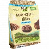 Цельнозерновые роллы «Brown Rice Rolls» с молочным бельгийским шоколадом, 50 г.