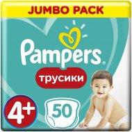 Трусики «Pampers» Pants 9-15кг, размер 4+, 50 шт.