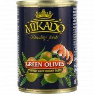 Оливки зелёные «Mikado» фаршированные креветками, 300 г.