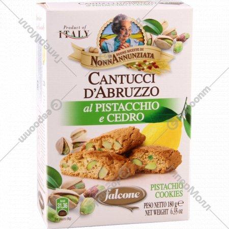 Печенье «Cantucci» с фисташкой и лимоном, 180 г.