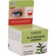 Гель для кожи вокруг глаз «Floslek» с очанкой и зеленым чаем, 10 г