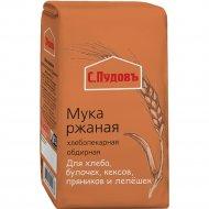 Мука ржаная хлебопекарная «С. Пудовъ» обдирная, 1 кг.