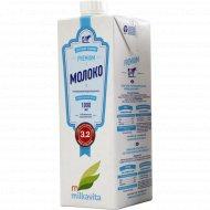 Молоко «Milkavita» premium, 3.2 %, 1 л.