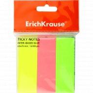 Бумага-флажки «Erich Krause» c клеевым краем, 3х25х75 мм, 3х100 шт.