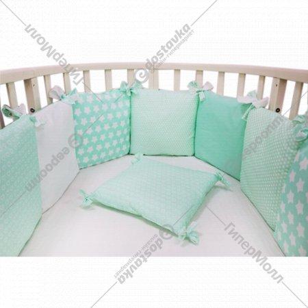 Бортик в кроватку «Топотушки» 12 месяцев, бирюзовый