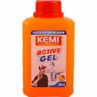 Средство для устранения засоров «Kemi» Active Gel, 500 мл.