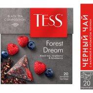 Чай чёрный «Tess» с малиной и ароматом черники, 20 пакетиков.