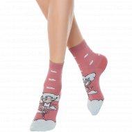 Носки женские хлопковые «Ce Happy» пепельно-розовые, размер 23-25.