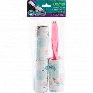 Ролик и набор сменных блоков «Dompi» для чистки одежды, 3 шт.