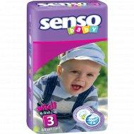 Подгузники для детей «Senso baby» размер 3, 4-9 кг, 44 шт.