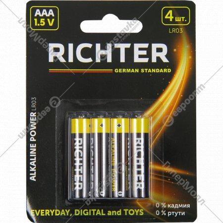 Батарейки «Richter» LR03, 4 шт.