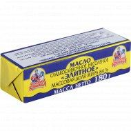 Масло сладкосливочное «Бабушкина крынка» Элитное, несоленое, 84%, 180 г