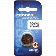 Элемент питания «Renata» CR2032, литиевый, 1 шт.