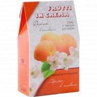 Соль с пеной «Frutti in Crema» для ванн, абрикос в сливках, 500 г.