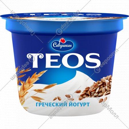 Йогурт греческий «Teos» злаки с клетчаткой льна, 2.0%, 250 г.