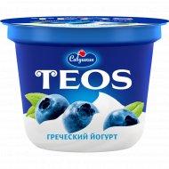 Йогурт греческий «Teos» с черникой, 2.0 %, 250 г.