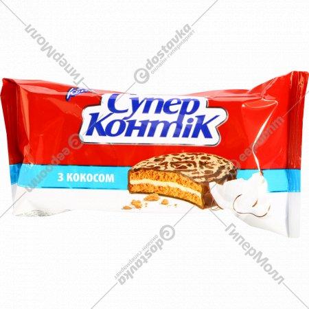 Печенье-сэндвич «Супер Контик» с кокосом, 100 г.