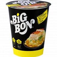 Пюре картофельное «Big Bon» с сухариками и соусом с жареной курицей, 60 г.