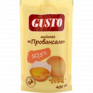 Майонез «Gusto» провансаль золотой 50.5%, 400 мл.