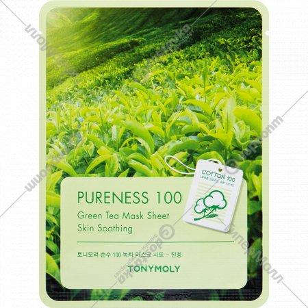 Маска для лица «TonyMoly» с экстрактом зеленого чая, 21 мл.