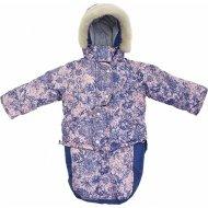 Комбинезон-трансформер «Топотушки» Актив Цветы, розово-синий.